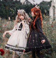 Lost Angel -The Night Witch- Gothic Lolita JSK Short Version,Lolita Dresses, Harajuku Fashion, Kawaii Fashion, Fashion Outfits, Cosplay, Moda Lolita, Skater Girl Outfits, Gothic Lolita Fashion, Japanese Street Fashion, Lolita Dress