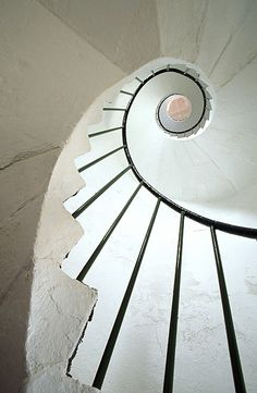 Dunmore East, County Waterford, Ireland, spiral staircase in lighthouse by Richard Cummins