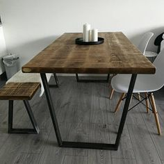 Package: Vintage Industrial Style Reclaimed Dining Table with Industrial Style Dining Table, Reclaimed Dining Table, Vintage Industrial, Under The Table, Wooden Tops, Extendable Dining Table, Table And Chairs, House, John Lewis