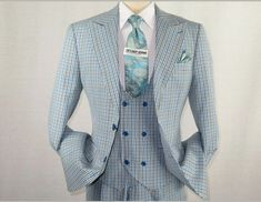 Waistcoat Vest Man Diamond Blue Light Sleeveless Bustier Elegant Formal