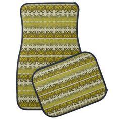 #trendy - #ethnic african pattern with Adinkra simbols Car Mat