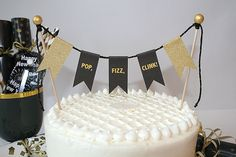 Your place to buy and sell all things handmade Cake Bunting, Flag Cake, Rock Candy Sticks, Champagne Birthday, Birthday Cake Smash, Gold Cake, Glitter Cake, Small Cake, New Years Eve Party