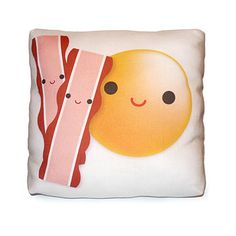 "Mini Pillow Yummy Egg & Bacon by mymimi ""Low Cholesterol"" on Etsy, $ 18.00"