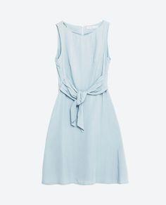 Dress With Tie-Waist from Zara
