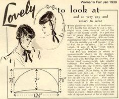 Vintage Chic: To Sew: A 1939 Tilt Hat