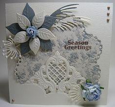Blue & White Seasons Greetings Card...Anja Design