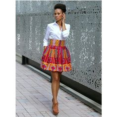 Get super trendy with these jaw-dropping Ankara styles! How cool is it to find a selection of cleverly designed Ankara styles that look fantastic, but which are not going to… African Inspired Fashion, African Print Fashion, Africa Fashion, Fashion Prints, African Prints, African Patterns, African Print Skirt, African Fabric, African Attire