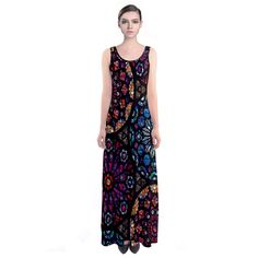 Stained Glass Impressions Sleeveless Maxi Dress.