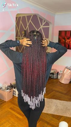 Cute Box Braids Hairstyles, Braided Hairstyles For Black Women Cornrows, Hair Ponytail Styles, Braids Hairstyles Pictures, African Braids Hairstyles, Braids For Black Hair, Black Women Hairstyles, Wig Hairstyles, Protective Hairstyles