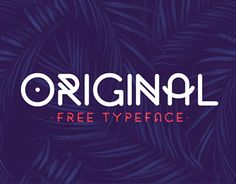 Original is an all caps rounded font that include 2 styles.Original is completely free for personal use.For commercial linceses, email me at : me[at]fnkfrsh.beEnjoy! :)