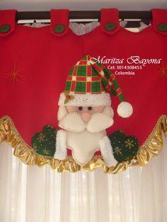 Cenefa 1 Christmas Crafts, Merry Christmas, Christmas Decorations, Xmas, Christmas Ornaments, Holiday Decor, Bathroom Organisation, Diy Weihnachten, Felt Crafts