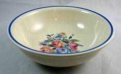 "Pfaltzgraff GATEHOUSE Soup Cereal Bowl 5 7/8"" Floral Pink Green Blue Trim USA #Pfaltzgraff"