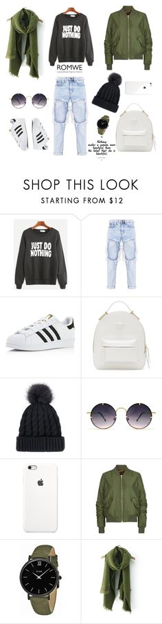 """Untitled #52"" by femina-mode ❤ liked on Polyvore featuring adidas, Versace, Spitfire, Topshop and CLUSE"