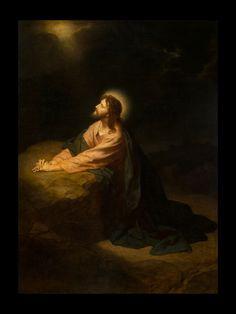 Christ in Gethsemane, Heinrich Hofman, Currently on display at the BYU Museum of Art
