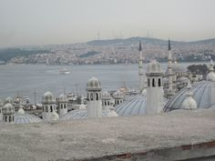 Istanbul: view looking over domes and chimneys of the Suleymaniye Camii to the Bosporus and city along its banks, 2012 photo by Sharon C. Smith