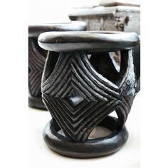 Manyara Home :: Furniture :: Tables :: Black Carved Stool/Table
