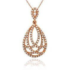 Shop online Mocha Diamond PDR-13576 Rose Gold DIAMOND Necklaces  at Arthur's Jewelers. Free Shipping