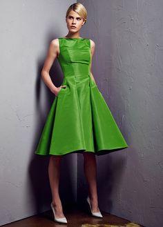 Green A-Line Dresses