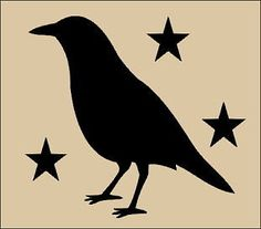Primitive Shape Stencil Crow and Stars New Bigger Sizes Added Choose