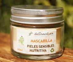 Facial Mask for sensitive skin with banana extract.  Mascarilla Pieles sensibles, nutritiva.