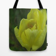 yellow tulip Tote Bag by Platinepearl