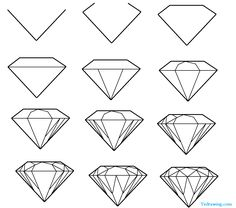 Diamond Drawing on Pinterest