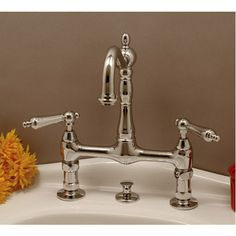 Randolph Morris Bridge Style Bathroom Sink Faucet Metal Lever Handles vintage tub and bath 165