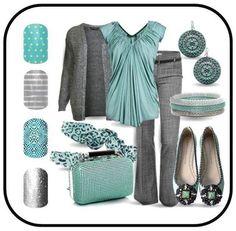 Career Wear Combo! #jamberrynails #likeaboss