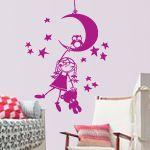 vinilos decorativos dqcolor Niña Luna estrellas