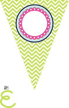 Free printable bunting. love these colors! The colors I want to ...
