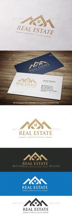 Real Estate Logo Template #design #logotype Download: http://graphicriver.net/item/real-estate/11097915?ref=ksioks