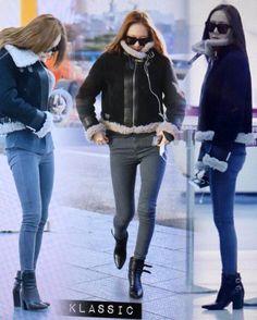 """ 151204 Gimpo Airport to Beijing,China 151205 attend ""iQIYI All•Star Carnival"" #fx #krystal #jungsoojung #soojung #krystaljung"""