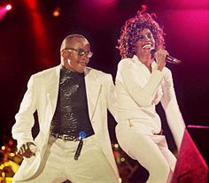 Bobby Brown with Whitney Houston