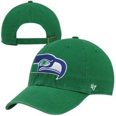 '47 Brand Seattle Seahawks Clean Up Adjustable Hat - Kelly Green