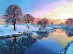 Winter Trees Painting by Conor McGuire