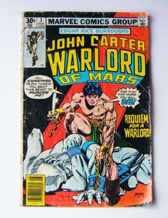 1977 John Carter Warlord Of Mars Marvel Comics Group Comic Book Volume 1 #3 by parkledge on Etsy