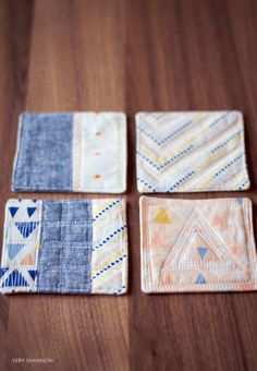 SEWING || MODERN QUILTED COASTER SEWING TUTORIAL | Very Shannon - Blog | Bloglovin'