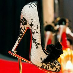 Shoe Tuesday-  Loving the lace Laboutins! #mozartandmarie #marieantoinette #laboutin #christianlouboutin #heels #style #fashion #lace #velvet #glamorous #vintage #twitter #shoes #shoetuesday