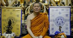 LEICESTER CITY fans have been flocking to a Bangkok temple to meet the Buddhist monk whose 'holy banners' are credited with bringing the Leicester Premiership glory.