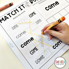 PrePrimer Sight Word Activities Preschool, PreK, Kindergarten, 1st Grade