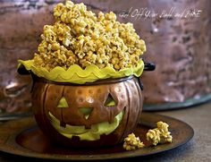 PEANUT BUTTER CARAMEL CORN and a GIVE-A-WAY! » Get Off Your Butt and BAKE!