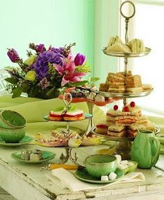 Tea & Crumpets (party idea)