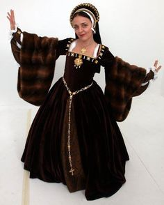 Tudor Costume, follow the link to see all the under layers that go into making the complete outfit.