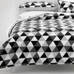 Monochrome Triangles Quilt Cover Set | Target Australia
