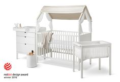 """STOKKE STORIES: The Bump says of Stokke Home, """"You don't have to buy new nursery furniture as baby grows if you invest in the right pieces from the start. Modular furniture that grows with baby is a purchase we can get behind. One that has a timeless, modern look and is known for craftsmanship, like Norwegian brand Stokke, can last you years before you have to think about changing up your child's room.""""   Stokke Home Awarded Best Crib for The Bump's 'Best of Baby 2016'"""