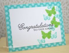 Grad Congratulations Card by Nichole Heady for Papertrey Ink (November 2013)