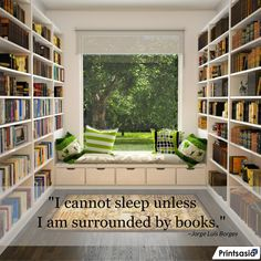 I Love Being Surrounded by Books. :-)