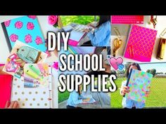 10 DIY BACK TO SCHOOL SUPPLIES! Notebooks, Pencil Cases & Decor 2017! - YouTube