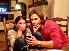 Jared & Genevieve Padalecki - A Twitterpic from last night, Gen now has a Twitter account. <3 #SupernaturalCast