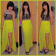 Top-forever 21,skirt-splash,sandal-vincci,accessories-aldo